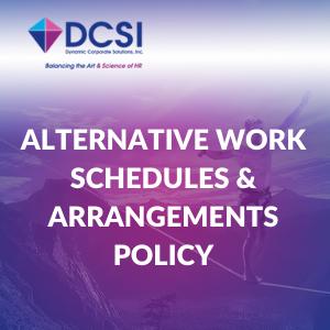 Alternative Schedules & Arrangements Policy